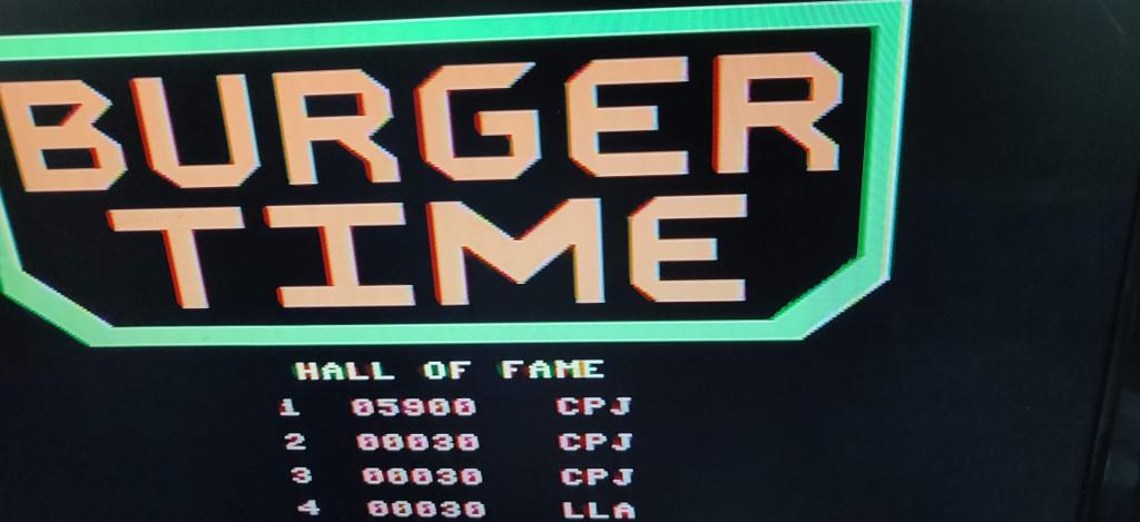Burger Time High Score Challenge